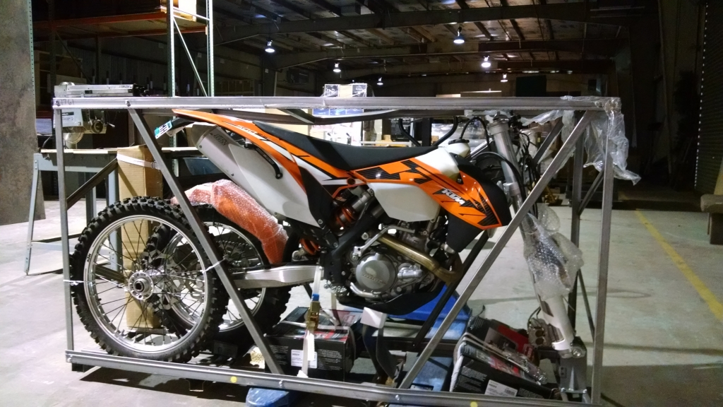 ktm 500 shipping crate